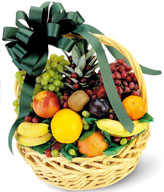 Fruit Basket of 1 Pineapple, 3 Bananas, 2 Oranges, 1 Peach, 1 Kiwi, 1 Plum