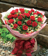 20 Red Roses,W: 50 × H: 60 × H: 60cm I LOVE YOU